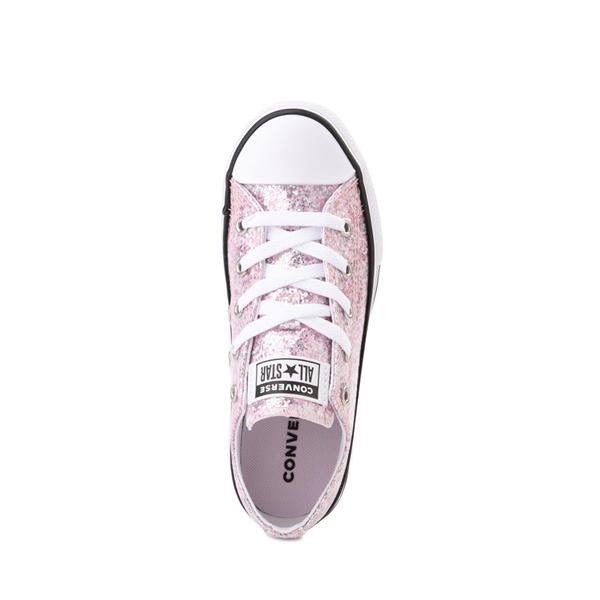 alternate view Converse Chuck Taylor All Star Lo Glitter Sneaker - Little Kid / Big Kid - Pink FoamALT2