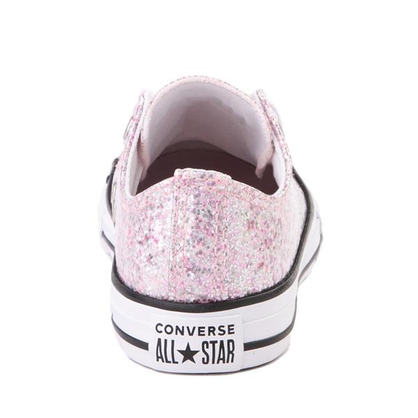 alternate view Converse Chuck Taylor All Star Lo Glitter Sneaker - Little Kid / Big Kid - Pink FoamALT4