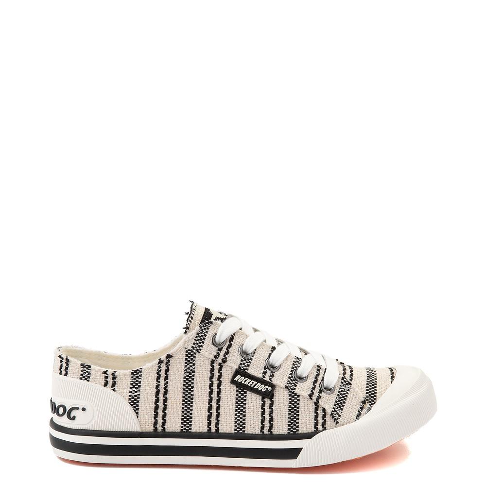 Womens Rocket Dog Jazzin Casual Shoe - Light Beige / Striped
