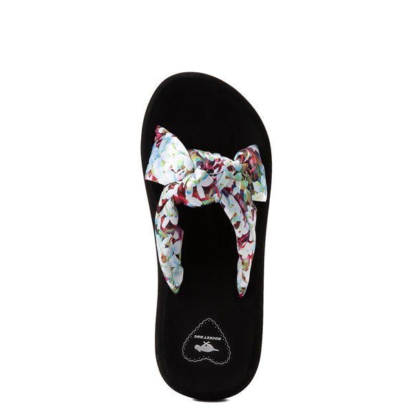 alternate view Womens Rocket Dog Slade Slide Sandal - Black / FloralALT2