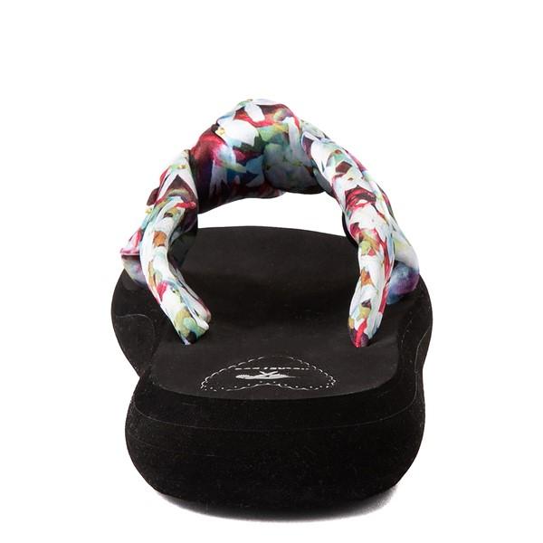 alternate view Womens Rocket Dog Slade Slide Sandal - Black / FloralALT4