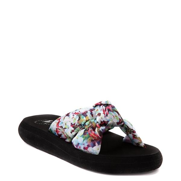 alternate view Womens Rocket Dog Slade Slide Sandal - Black / FloralALT5