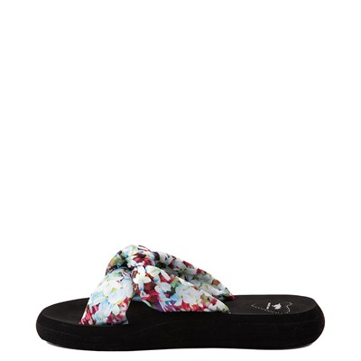 Alternate view of Womens Rocket Dog Slade Slide Sandal - Black / Floral