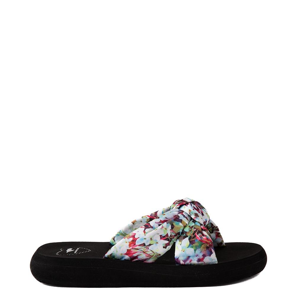 Womens Rocket Dog Slade Slide Sandal - Black / Floral