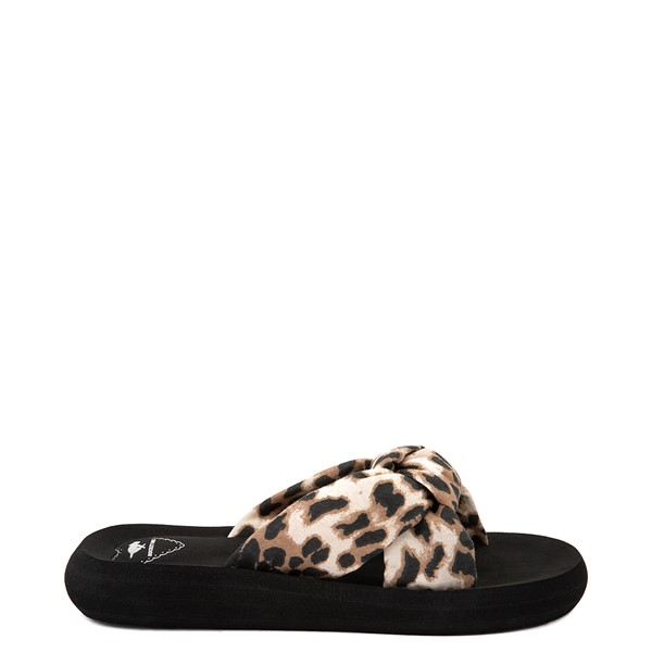 Womens Rocket Dog Slade Slide Sandal - Black / Leopard