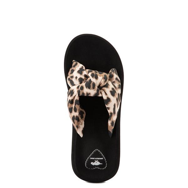 alternate view Womens Rocket Dog Slade Slide Sandal - Black / LeopardALT2