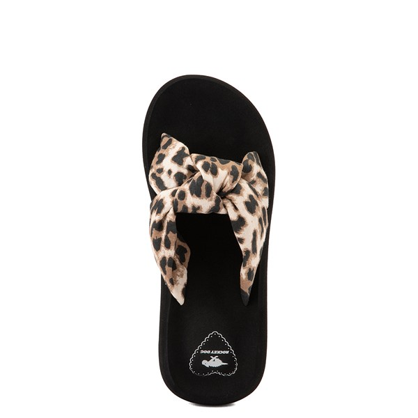 alternate view Womens Rocket Dog Slade Slide Sandal - Black / LeopardALT4B