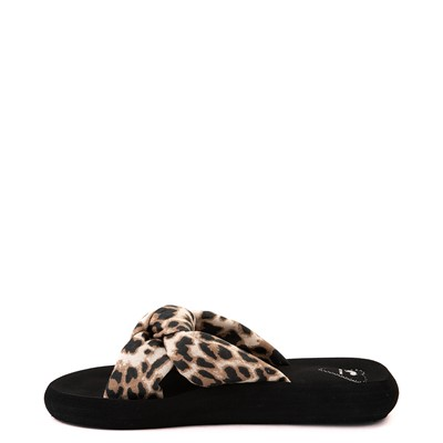 Alternate view of Womens Rocket Dog Slade Slide Sandal - Black / Leopard