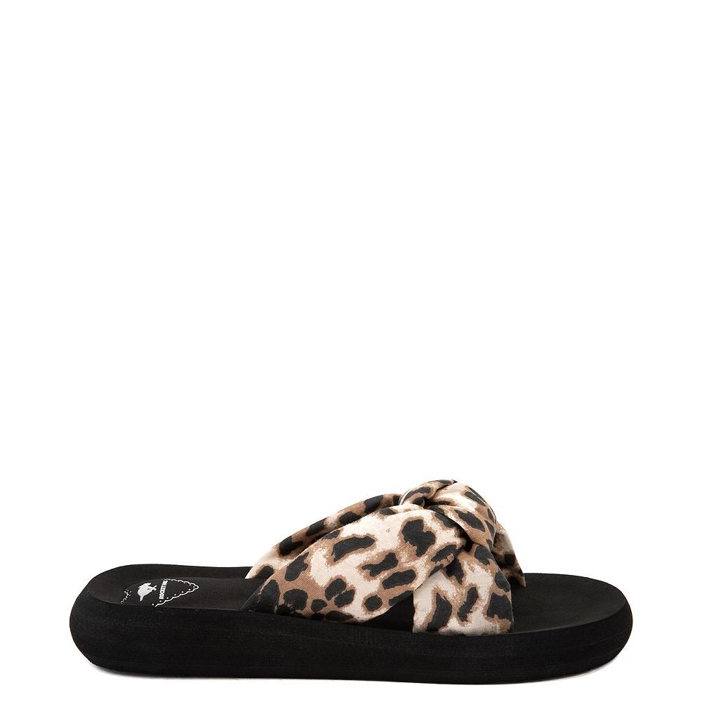 Womens Rocket Dog Slade Slide Sandal - Black / Leopard