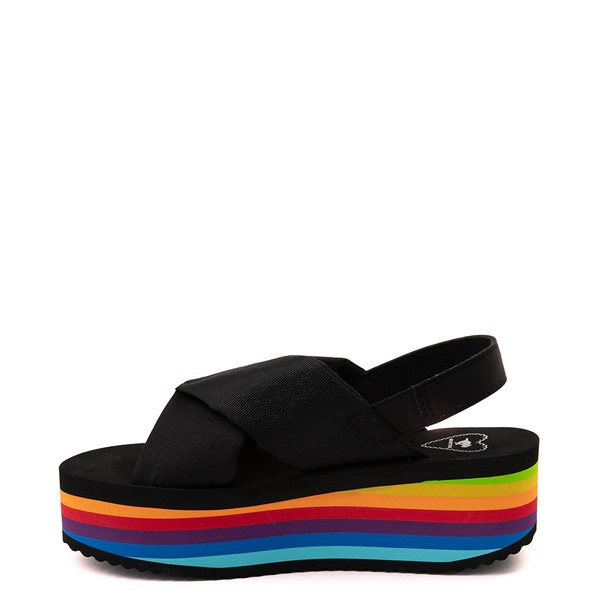 alternate view Womens Rocket Dog Hanalei Platform Sandal - Black / RainbowALT1