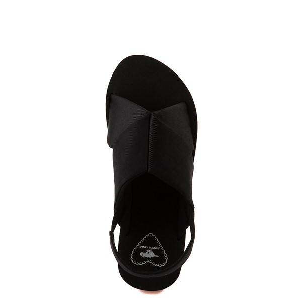 alternate view Womens Rocket Dog Hanalei Platform Sandal - Black / RainbowALT2