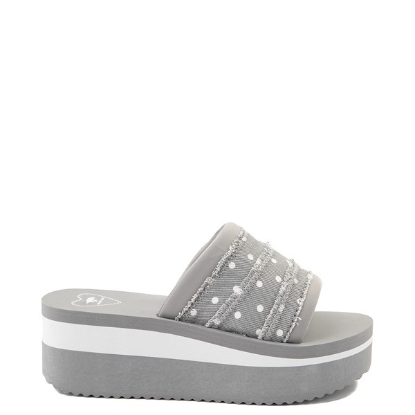 Main view of Womens Rocket Dog Hilo Platform Slide Sandal - Gray