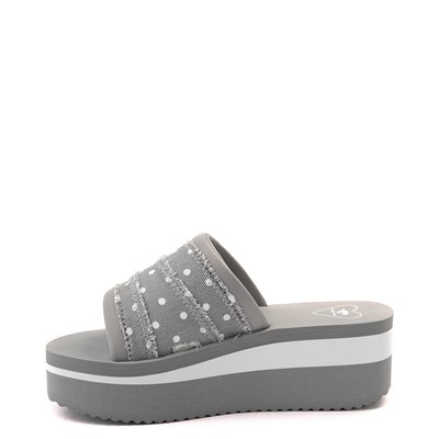 Alternate view of Womens Rocket Dog Hilo Platform Slide Sandal - Gray