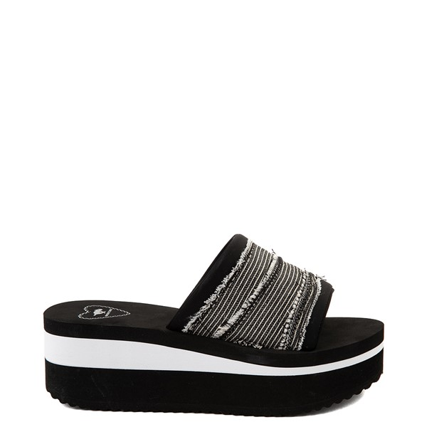 Womens Rocket Dog Hilo Platform Slide Sandal - Black