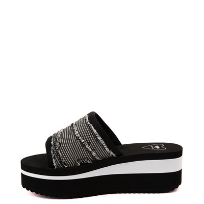 Alternate view of Womens Rocket Dog Hilo Platform Slide Sandal - Black