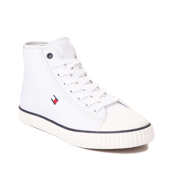 alternate view Womens Tommy Hilfiger Ender Hi Platform Sneaker - WhiteALT5