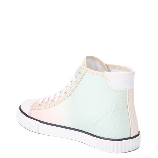 alternate view Womens Tommy Hilfiger Ender Hi Platform Sneaker - Pastel Multicolor / Chic PinkALT1