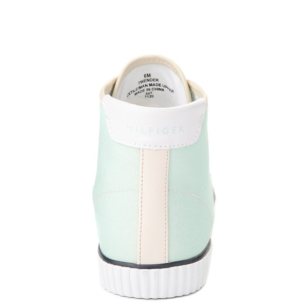 alternate view Womens Tommy Hilfiger Ender Hi Platform Sneaker - Pastel Multicolor / Chic PinkALT4