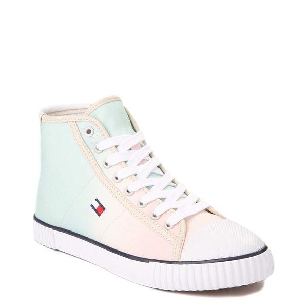 alternate view Womens Tommy Hilfiger Ender Hi Platform Sneaker - Pastel Multicolor / Chic PinkALT5