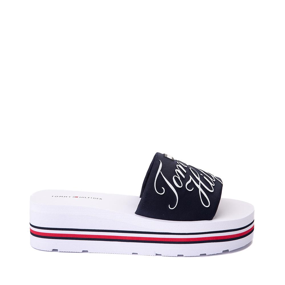 Womens Tommy Hilfiger Azlee Platform Sandal - White / Navy