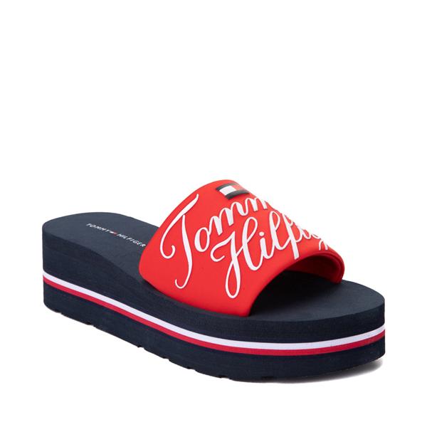 alternate view Womens Tommy Hilfiger Azlee Platform Sandal - Red / NavyALT5