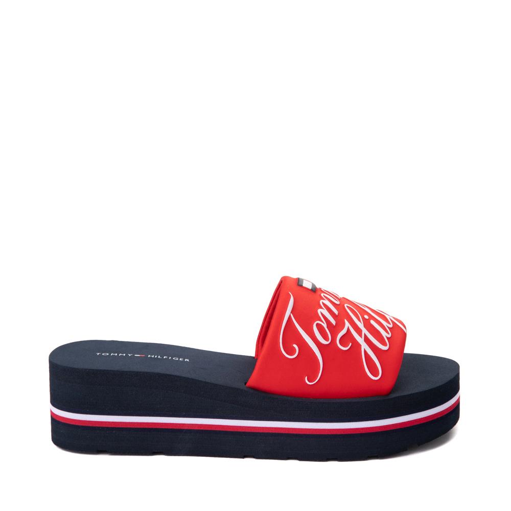 Womens Tommy Hilfiger Azlee Platform Sandal - Red / Navy