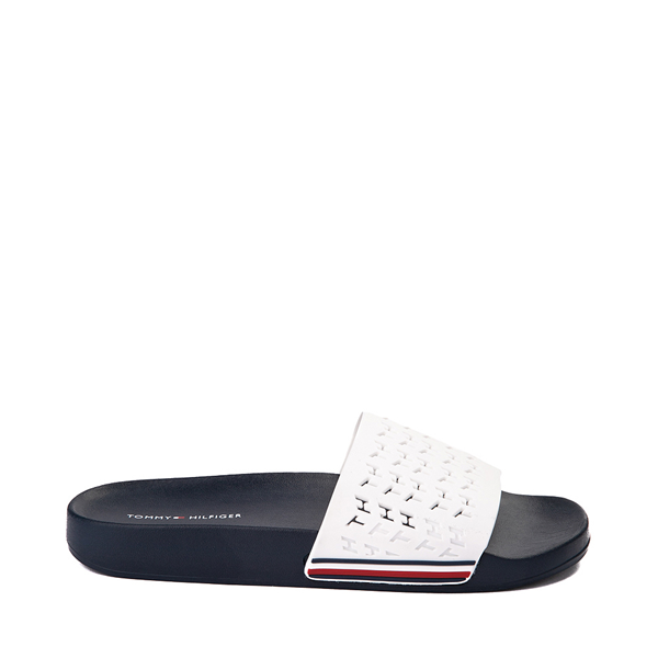 Womens Tommy Hilfiger Dunki Slide Sandal - White / Navy