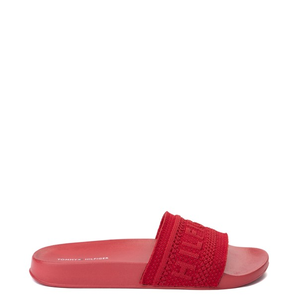 Main view of Womens Tommy Hilfiger Dollop Slide Sandal - Red