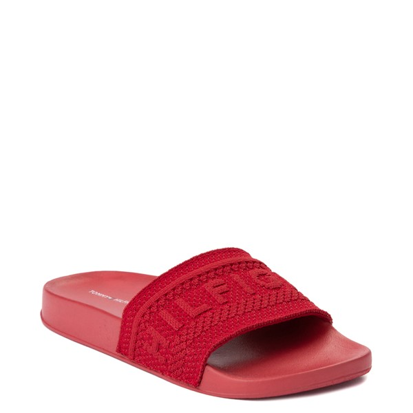 alternate view Womens Tommy Hilfiger Dollop Slide Sandal - RedALT5