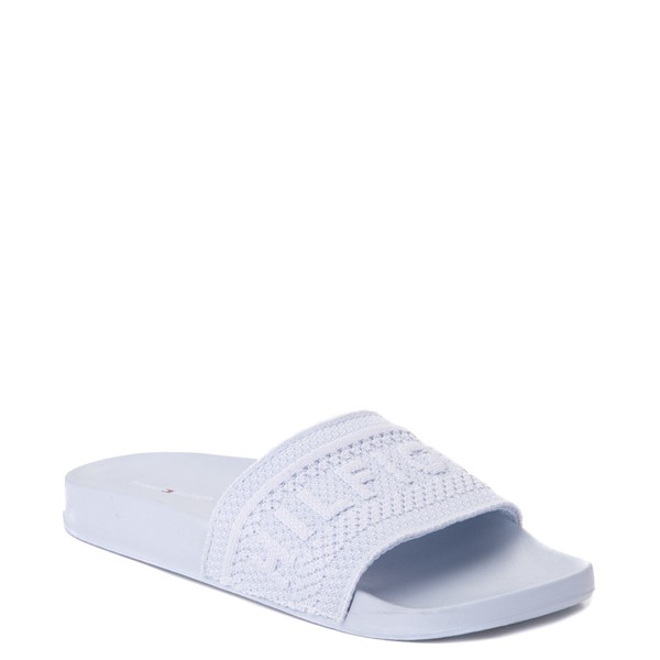alternate view Womens Tommy Hilfiger Dollop Slide Sandal - Pale BlueALT5