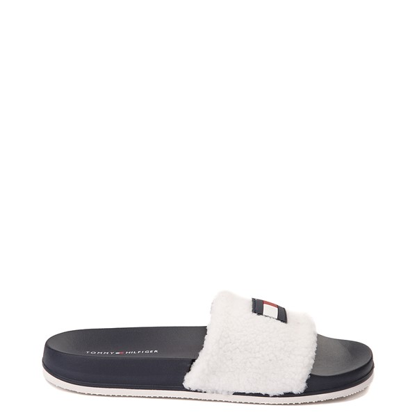 Main view of Womens Tommy Hilfiger Dezia Slide Sandal - White / Navy