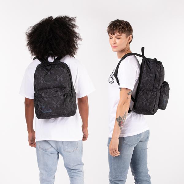 alternate view JanSport Superbreak Plus FX Pretty Wings Backpack - BlackALT1BADULT