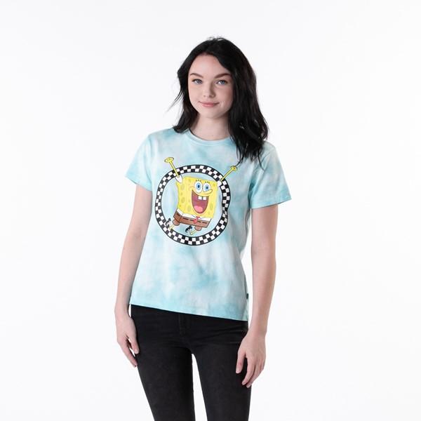 Womens Vans x SpongeBob Squarepants™ Jump Out Tee - Blue Tie Dye