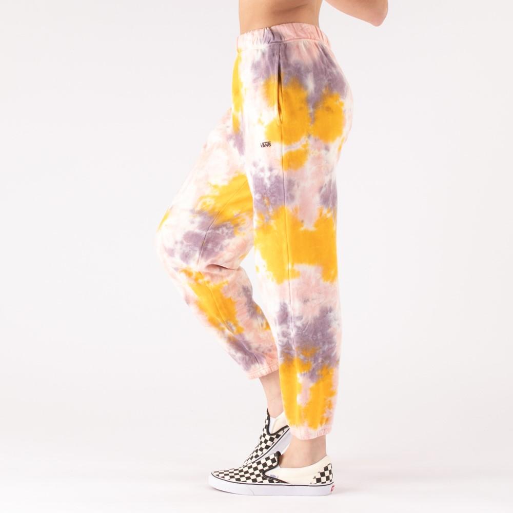 Womens Vans Grunge Wash Sweatpants - Purple Dove Tie Dye