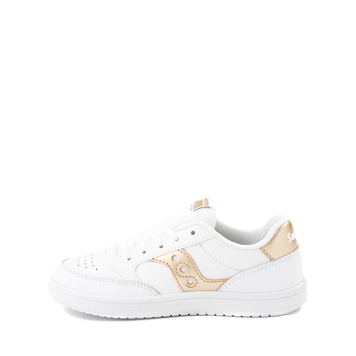 Alternate view of Saucony Jazz Court Athletic Shoe - Little Kid / Big Kid - White / Gold