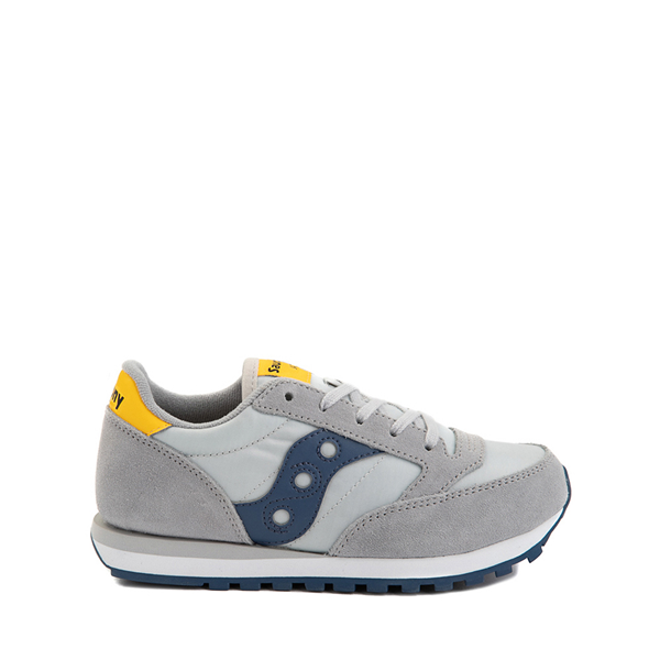Main view of Saucony Jazz Original Athletic Shoe - Little Kid / Big Kid - Gray / Blue / Yellow
