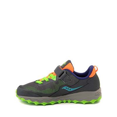 Alternate view of Saucony Peregrine 11 Shield Athletic Shoe - Little Kid / Big Kid - Gray / Green
