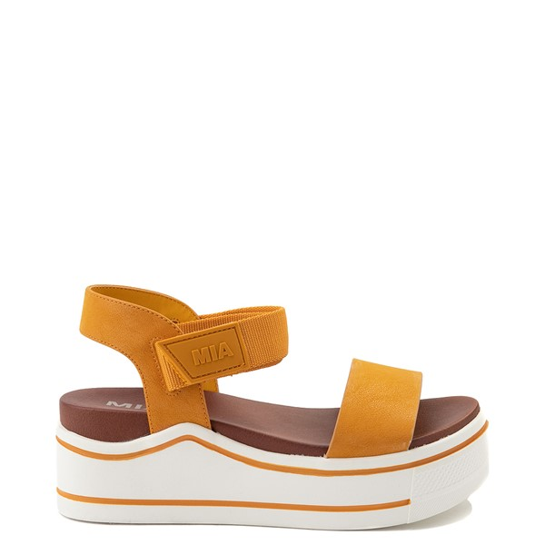 Main view of Womens MIA Odelia Platform Sandal - Mustard