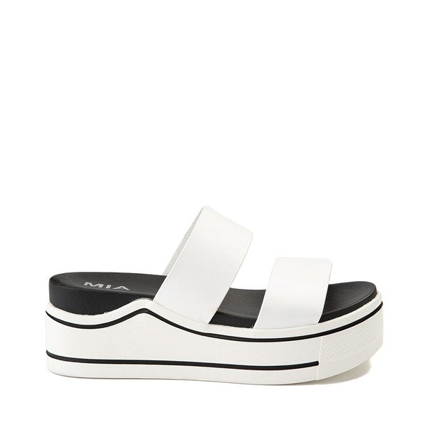 Main view of Womens MIA Ozzie Platform Slide Sandal - White