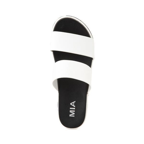 alternate view Womens MIA Ozzie Platform Slide Sandal - WhiteALT2