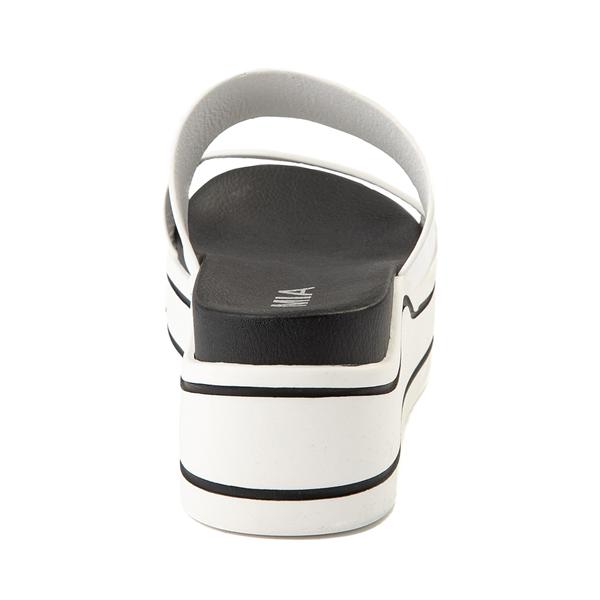 alternate view Womens MIA Ozzie Platform Slide Sandal - WhiteALT4