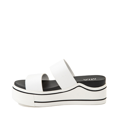 Alternate view of Womens MIA Ozzie Platform Slide Sandal - White