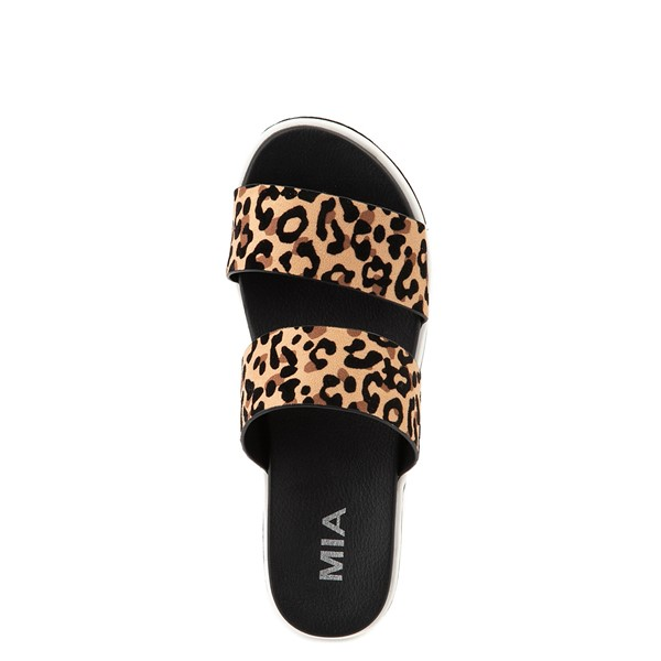 alternate view Womens MIA Ozzie Platform Slide Sandal - LeopardALT2