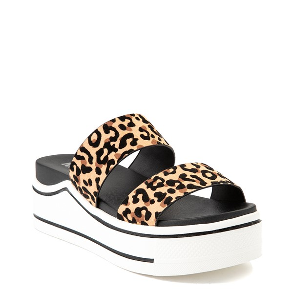 alternate view Womens MIA Ozzie Platform Slide Sandal - LeopardALT5