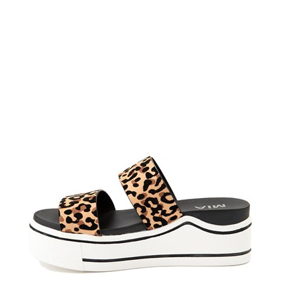 Alternate view of Womens MIA Ozzie Platform Slide Sandal - Leopard