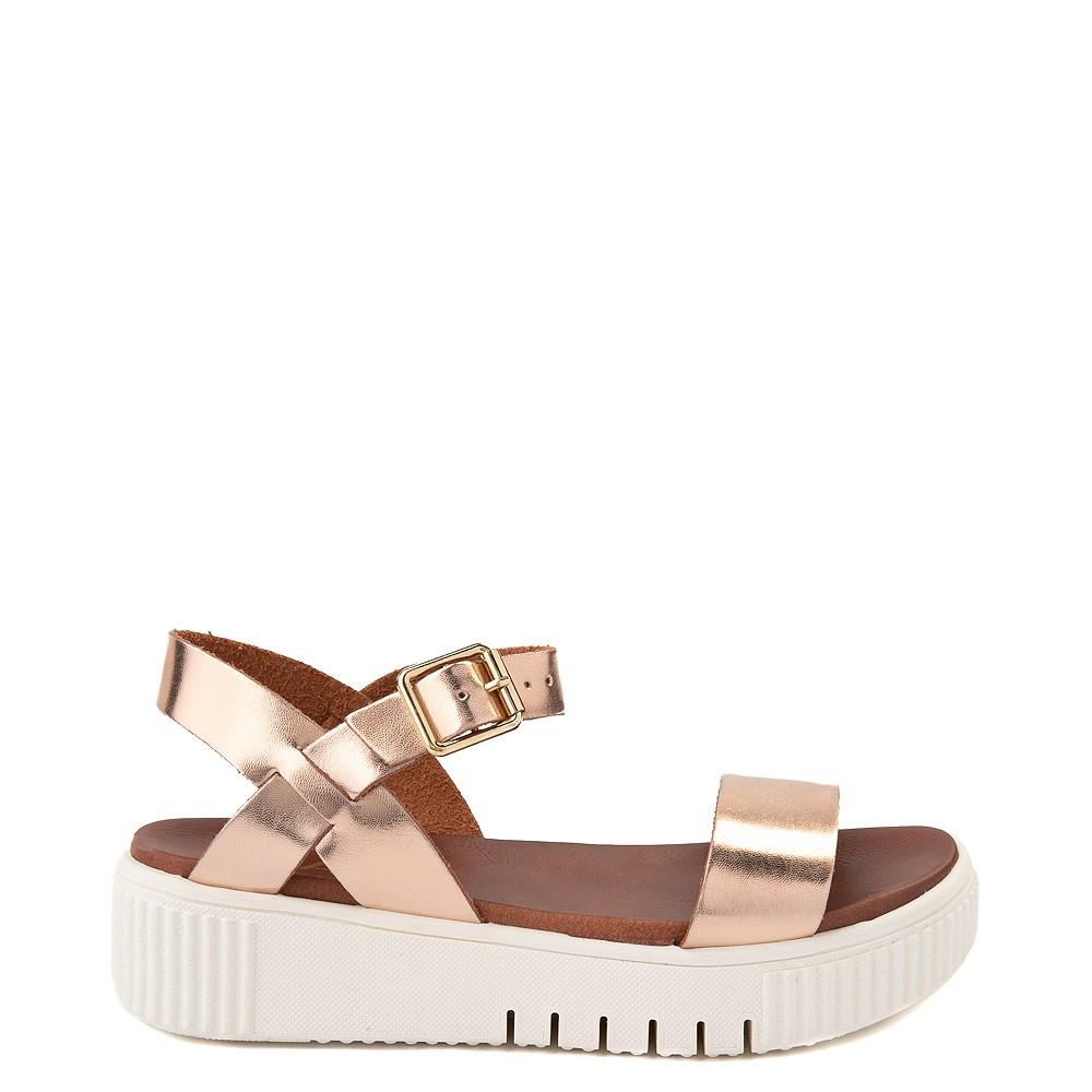 Womens MIA Leanna Platform Sandal - Rose Gold