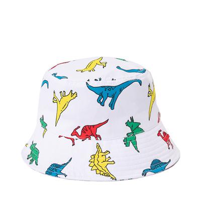Alternate view of Dinosaur Bucket Hat - Little Kid / Big Kid - White