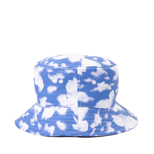 alternate view Cloud Print Bucket Hat - Blue / WhiteALT1