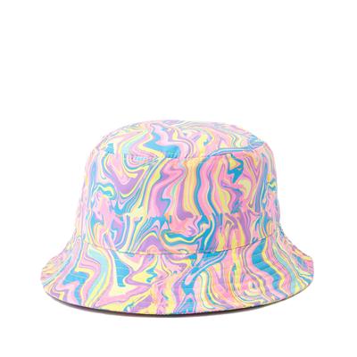 Alternate view of Paint Swirl Bucket Hat - Multicolor