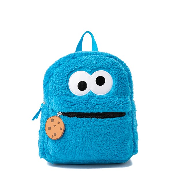 Seasame Street Cookie Monster Plush Backpack - Blue